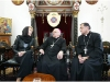 Meeting the Patriarch and Arch Bishop of Jerusalem, Michael Sabbah (centre)
