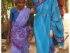 Her Highness the Begum with elderly woman from the village.