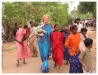 The Begum visiting a village in Tamilnadu